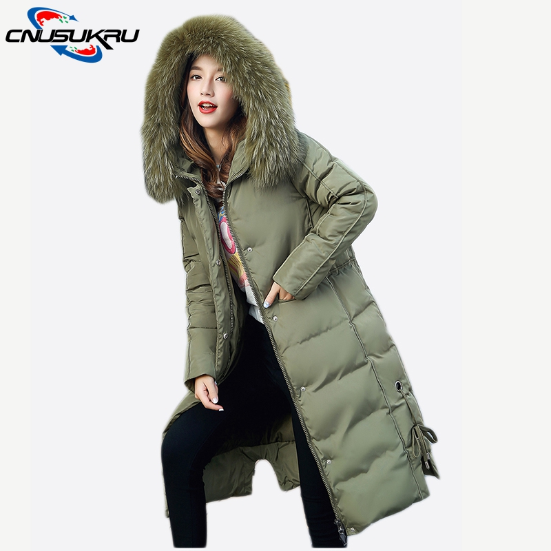 2017 new high quality large fur collar long hooded warm outwear loose women winter coat 4XL large size thicken cotton jacket new fashion winter jacket women fur collar hooded jacket warm thick coat large size slim for women outwear parka women g2786