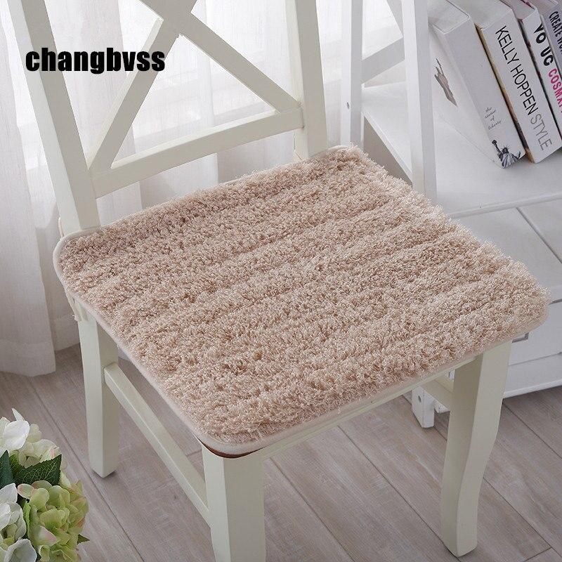 Lovely Plush Chair Cushion Back Mat,Hotsale Seat Cushions Kitchen Chairs,Soft Dining Chair Cushions Mat,almofada Decorativa