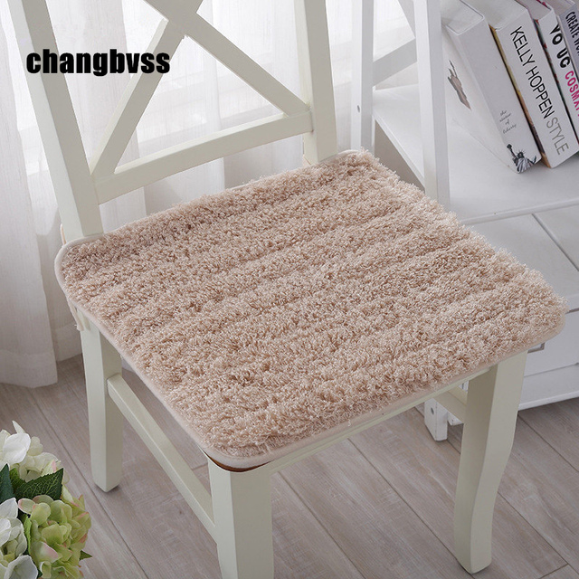 US $4.49 35% OFF|Lovely Plush Chair Cushion Back Mat,Hotsale Seat Cushions  Kitchen Chairs,Soft Dining Chair Cushions Mat,almofada decorativa-in ...