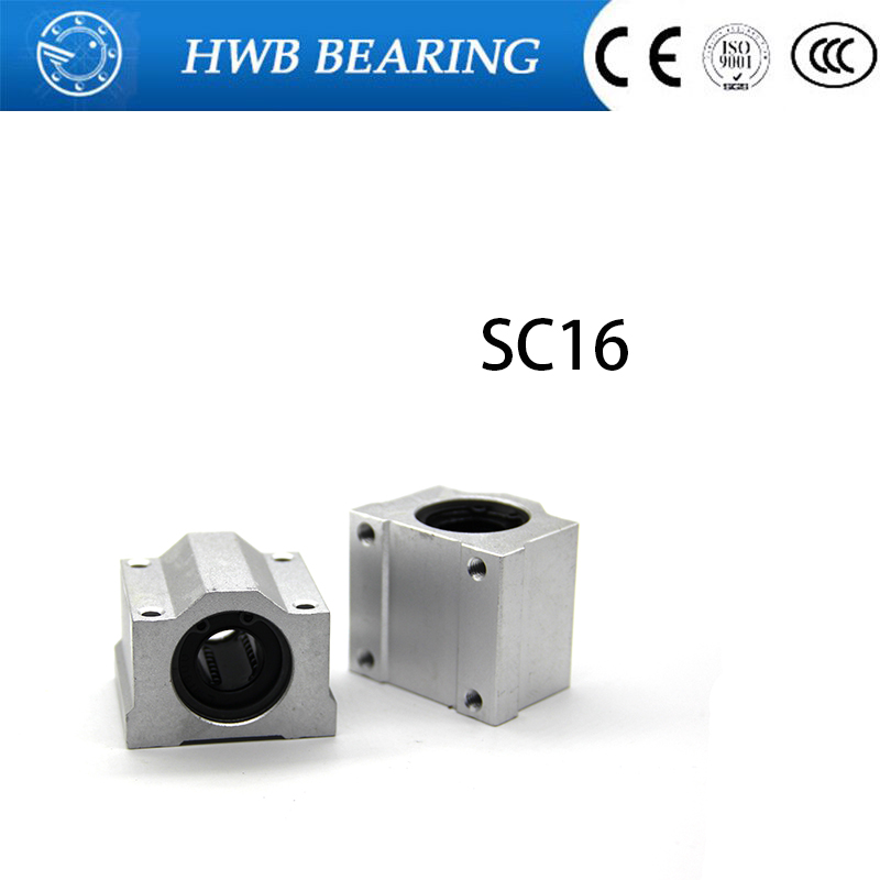 Free shipping New 4pcs SC16UU SCS16UU 16mm Linear Block axis Ball Bearing Pillow Bolck for 16mm shaft railFree shipping New 4pcs SC16UU SCS16UU 16mm Linear Block axis Ball Bearing Pillow Bolck for 16mm shaft rail