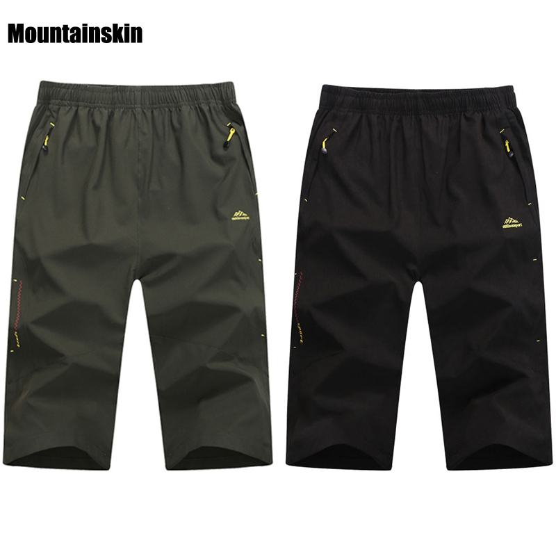 Men's Summer Quick Dry Breathable Shorts Outdoor Sports Mountainskin Hiking Fishing Trekking Camping Male Cropped Trousers VA099