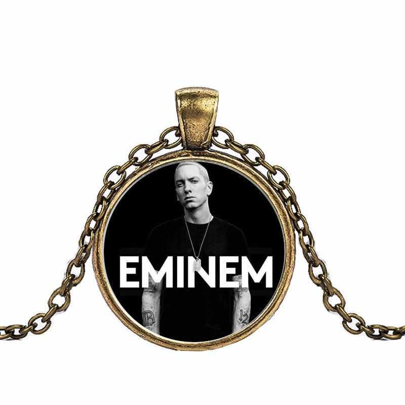 2018 di alta qualità 3 di colore Eminem modelli di colore di modo nuovo pendente della collana di cristallo femminile gioielli da uomo regali