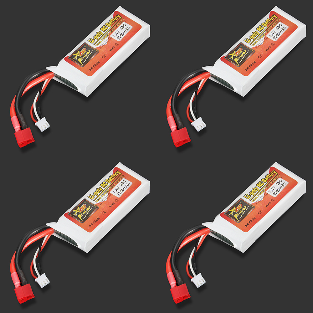 1pcs Rechargeable High quality Lipo Battery ZOP Power 7.4V 2200mAh 35C 2S Lipo Battery TPlug For RC Model high quality zop power 14 8v 2200mah 4s 45c lipo battery t plug rechargeable lipo battery for rc helicopter part
