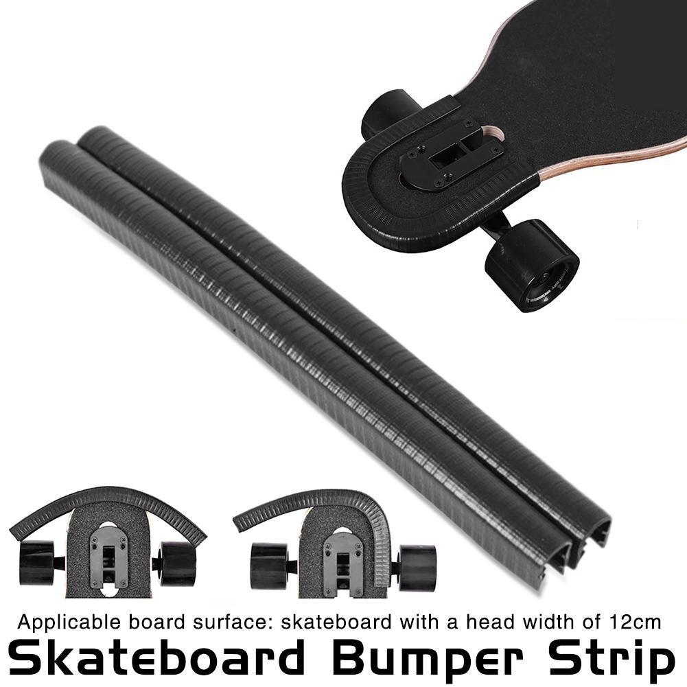 2 pcs 32 cm Tira Bumper Faixa de Proteção para Longboard Skate Skate Bordo Peixe Centavo Convés Anti-colisão evitar Ferir a