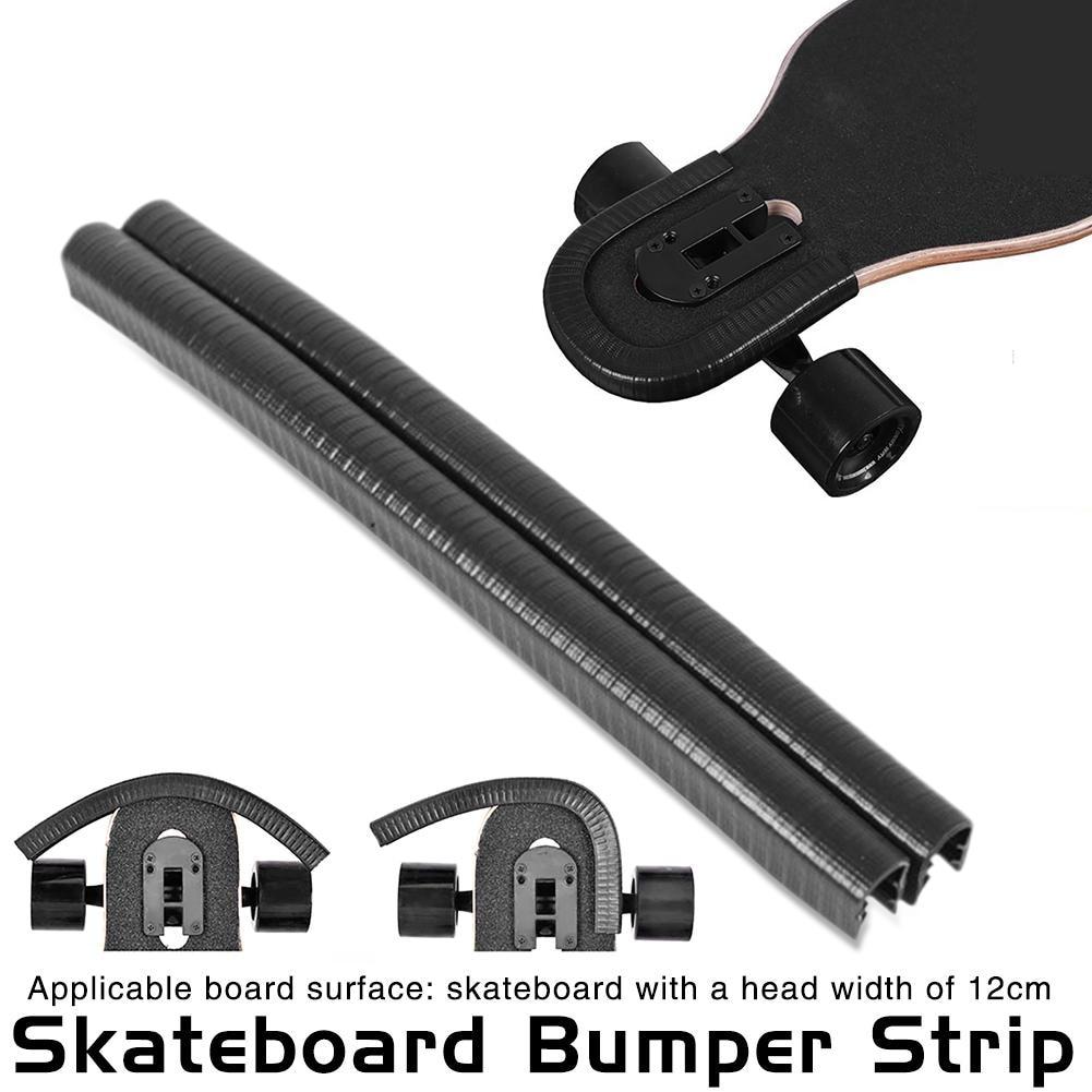 2pcs 32cm Skateboard Bumper Strip Skate Board Protection Strip For Longboard Fish Board Penny Deck Anti-collision Avoid Hurting