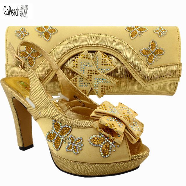 2017 Italian Nice Shoes And Bag Set African Wedding Italy Summer