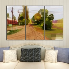 Canvas Poster home decoration modular HD printing 3 surfing living room frescoes digital painting free postage