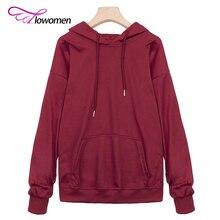 Flowomen 2017 Basic Hoodie Sweatshirt Women Autumn Hooded Hoodies Casual Long Sleeve Pocket Sweatshirt Tops sudaderas mujer