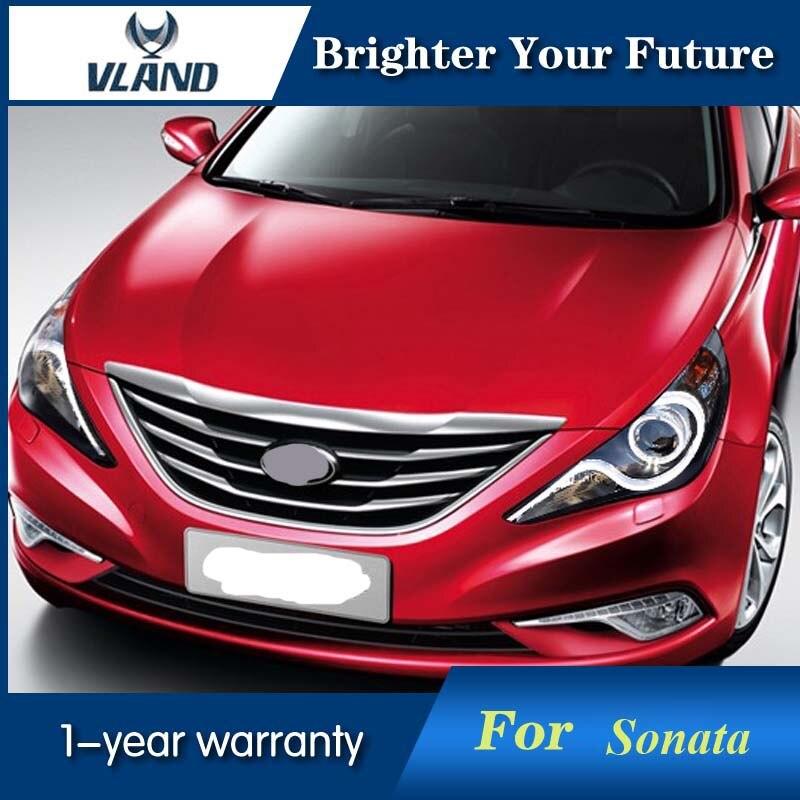 LED Headlight Halo For Hyundai Sonata 2011-2014 LED Angel Eye Projector Head Lamp багажник на крышу lux hyundai sonata тагаз 2001 2011 1 2м прямоугольные дуги 692971