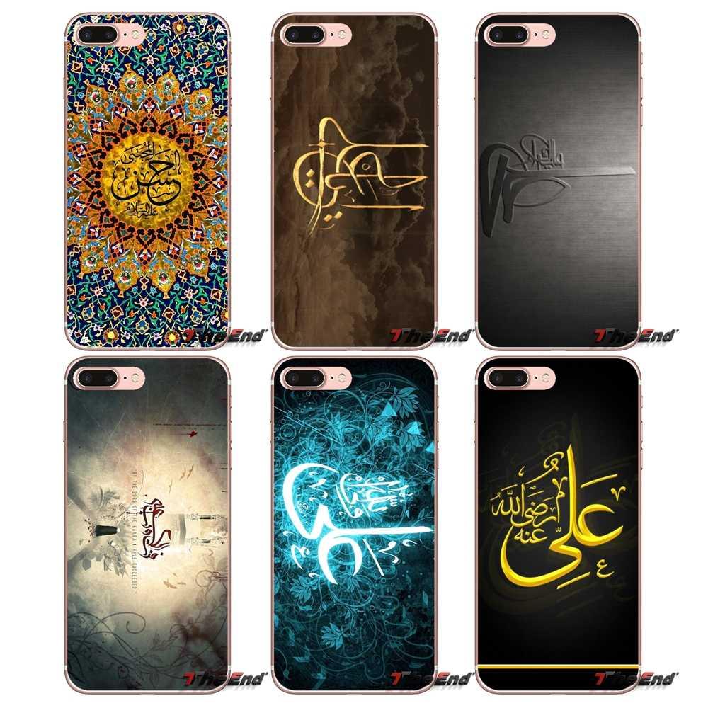 Фото Для iPhone X 4 4S 5 5S 5C SE 6 S 7 8 плюс Samsung Galaxy J1 J3 J5 j7 A3 A5 2016 2017 Имам Али Лев Аллах Бог всего