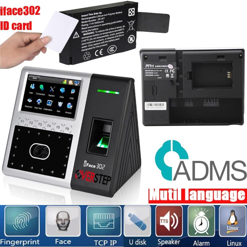 US $165 0 |Mutil language zkteco Iface 302 facial and fingerprint access  control time attendance machine with TCP/IP facial time ATTENDANCE-in