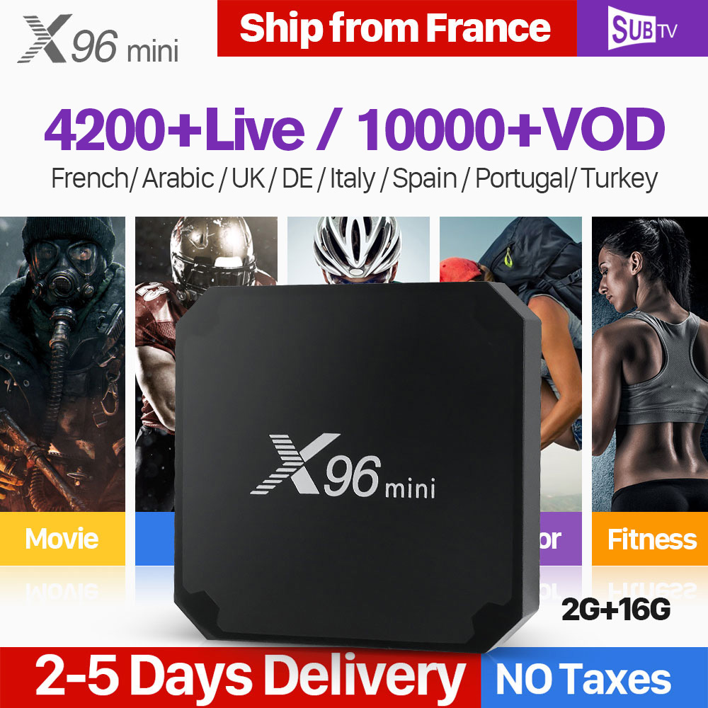 IPTV France Subscription 1 Year SUBTV Code X96 MINI Android 7 1 TV Box S905W IPTV