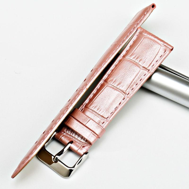 MAIKES Hot sprzedaży moda od zegarków różowy skórzany pasek do - Akcesoria do zegarków - Zdjęcie 4