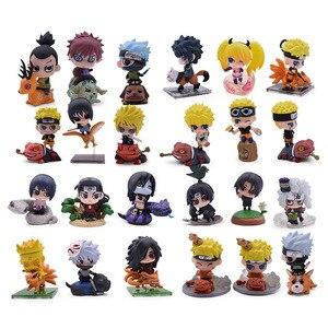 6pcs/lot Naruto Action Figure Toys 24 Styles Zabuza Haku Kakashi Sasuke Naruto Sakura PVC Model Doll Collection Kids Toy(China)