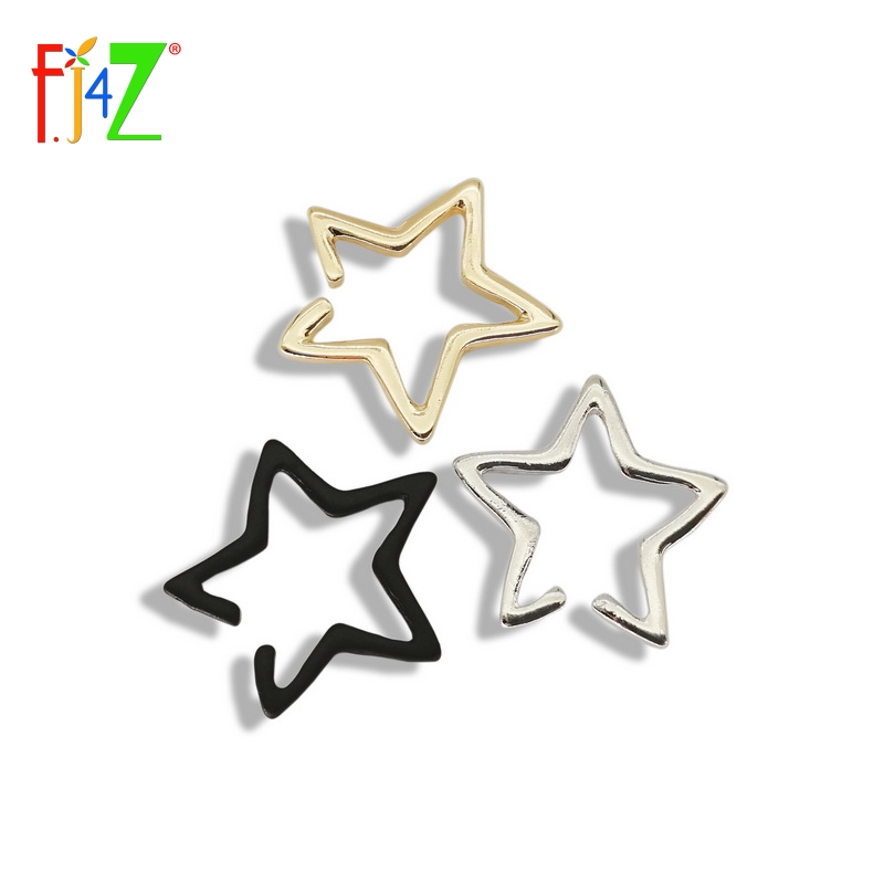 2015 new arrival ear cuff fashion punk golden silver black open star non-pierced cuff earrings for women boucles bijoux brincos
