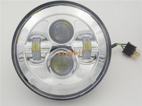 1pc 7 Round LED Headlight Assembly Case for Harley Davidson Motorcycle, High beam 40W 1770LM, low beam 20W 980LM. free shipping
