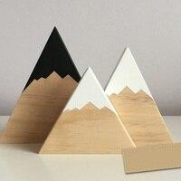 3 Pièces Figurines En Bois Iceberg Forme Décoration Décoration de Salle de Kid Jouets Caméra Accessoires