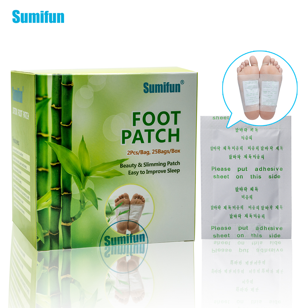 50pcs Patches+50pcs Adhesives Kinoki Detox Foot Patches Toxins Feet Cleansing Herbal Adhesive Massage Organic Herbal Pads K02401 herbal muscle