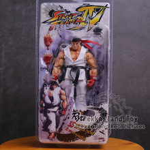 NECA Street Fighter Кен Рю Guile ПВХ фигурку Коллекционная модель игрушки 18 см