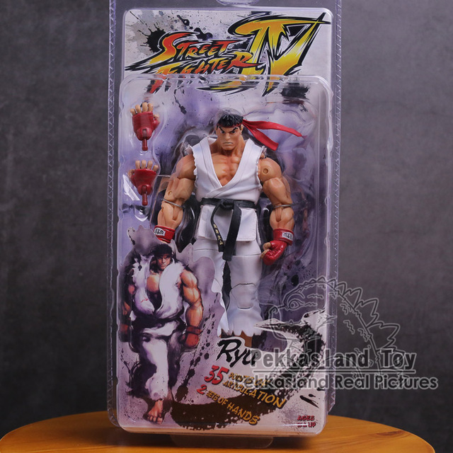 NECA Street Fighter Ken Ryu Guile PVC Action Figure Collectible Modelo Toy 18 cm