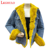 2018 New Winter Fashion Thick Women Outwear Real Fur Collar Plus Cotton Warm Wadded Jackets Female Cotton-padded Coats W607(China)