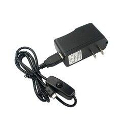 Adaptador de corriente Raspberry Pi 3 para cargador de corriente RPI 3 Modelo B 5 V 2.5A con interruptor EU US UK enchufe y Puerto Micro USB para RPI 3