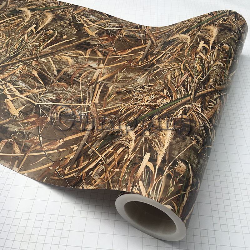 Shadow Grass Blades Tape Graphics Camo Printed Grass Camouflage Style Truck Hunter Car Roof Hood Camouflage Vinyl Vehicle Wrap shadow grass blades camo vinyl car wrap duck hunter adhesive pvc camouflage film for truck motocycle hood decals