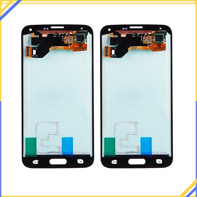 100% Tested For Samsung Galaxy S5 G900 SM-G900F I9600 LCD Display Touch Screen Mobile Phone Digitizer Assembly Replacement Parts