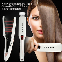 Professional Steam infrared ironic hair straightener styling tool straightening irons цена и фото