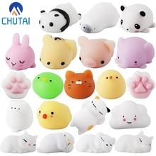 Suave lindo Mini Animal antiestrés pelota juguetes Squishi Mochi creciente alivio del estrés juguete pegajoso eliminar mascotas regalo divertido