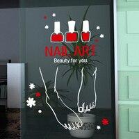 Nail Art Vinly Wall Sticker Foot Nail Polish Mural Art Wall Decal Nail Bar Sign Poster