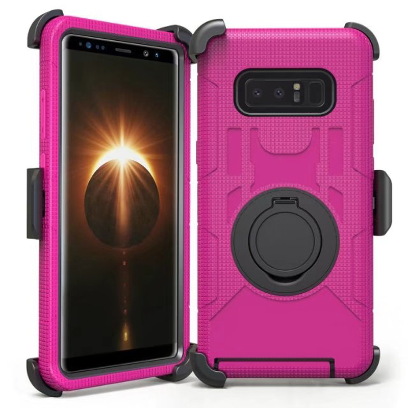 For Samsung Note8 Case Finger Ring Belt Clip Shockproof Heavy Duty Armor Back Cover for Samsung