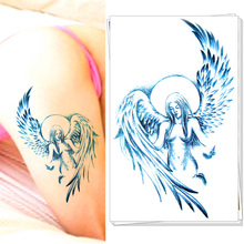 M-theory Temporary Tattoos Body Art, Guardian Angel , Flash Tatoos Sticker 20*12cm Swimsuit Bikini Makeup Swimsuit Makeup(China)