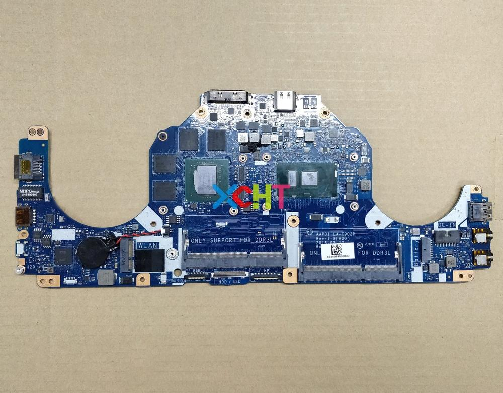 Para Dell Alienware 13 R2 TXYDJ 0TXYDJ CN 0TXYDJ AAP01 LA C902P w i7 6500U CPU N16E GR A1 GPU placa base portátil a pruebaPlaca base de portátil   -