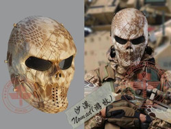 Metal máscara de festa malha olho proteger máscara facial airsoft paintball hóquei cosplay m06 nomad