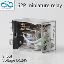 10 pieces hh62P small current relay intermediate relay DC24V 10 a2 2 closure ECNKO Voltage AC220V DC24V цена 2017