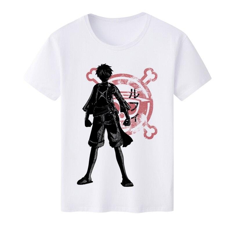 2019 Summer New Anime One Piece Monkey D Luffy Roronoa Zoro Sanji T-Shirt Men Fashion Printed T shirt Short Sleeve Tee Shirts