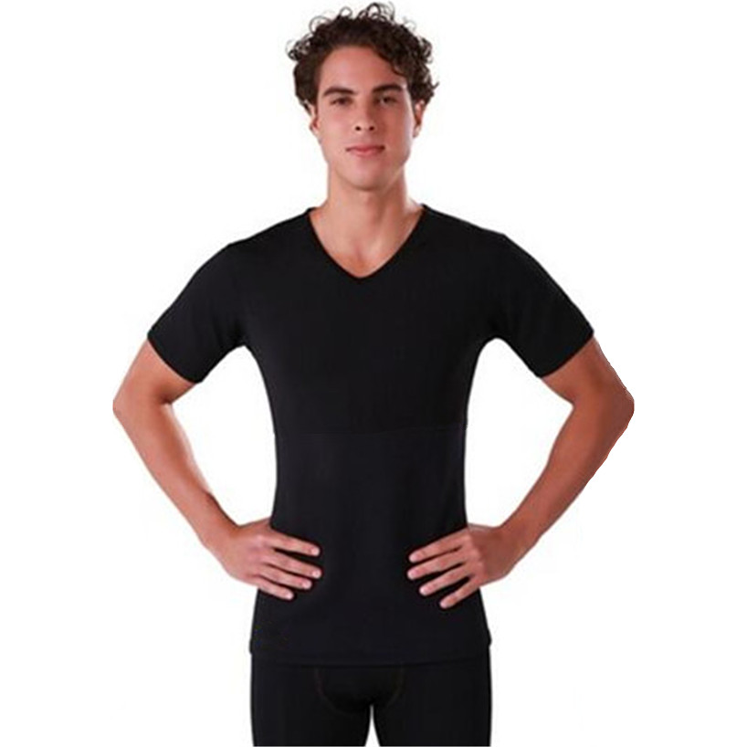 f3051c083cdb2 Hot Waist Trainer Body Shapers Men s Compression Slimming Shirts Neoprene  Absorbs Sweat Tees Sweat More Fat Burning Workout Tops-in Shapers from  Underwear ...