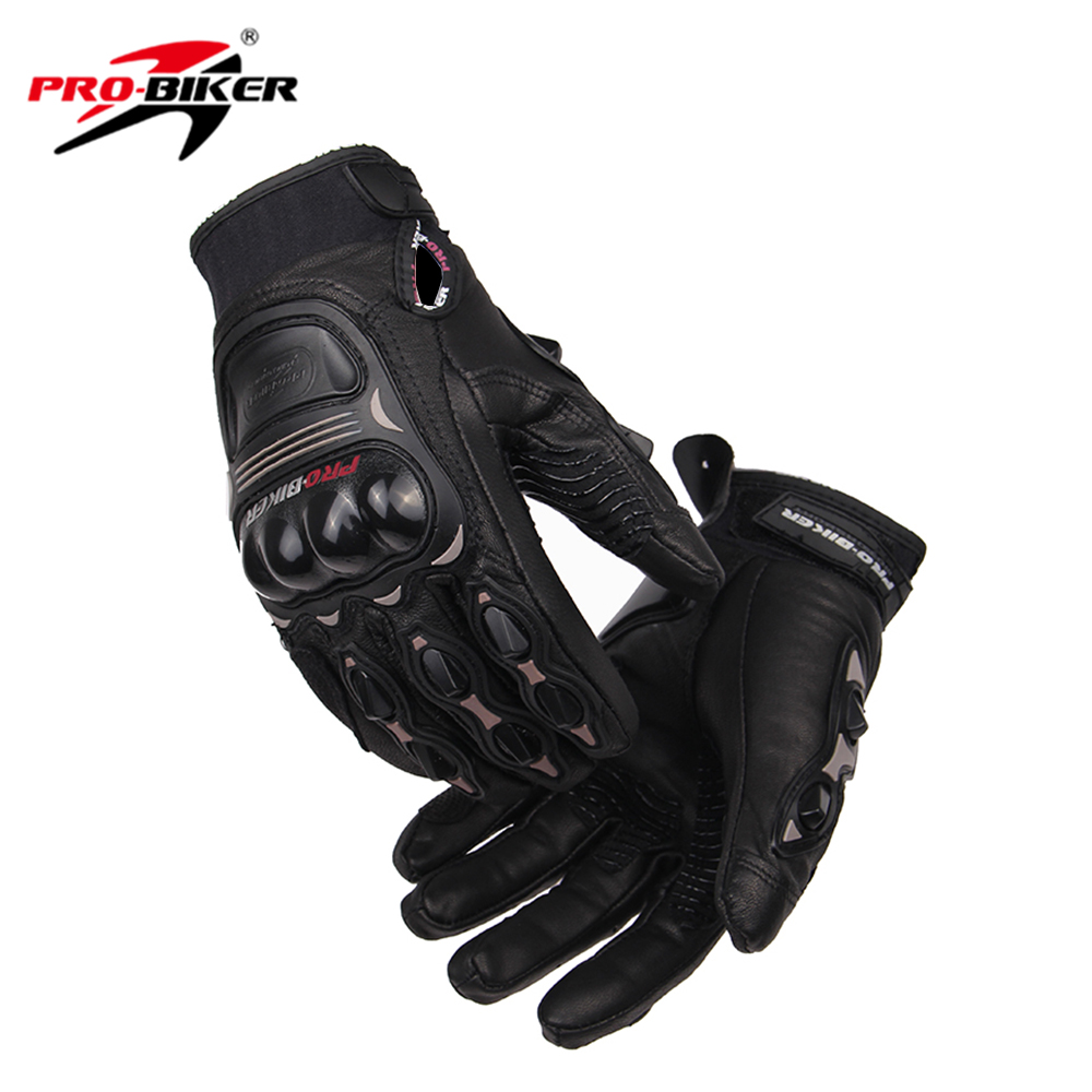 Buy leather bike gloves - Pro Biker Motorcycle Gloves Genuine Goat Leather Motorcycle Driving Racing Gloves Enduro Motocross Off