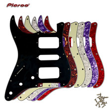 Guitar Parts - For Left Handed USA\Mexico Fd Strat 11 Screw Holes HSH Two Humbuckers Single St Guitar pickguard Scratch Plate цена