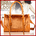 2015 mujeres messenger bags nueva moda bolsos de piel de conejo + del hombro portátil bolsa de alto grado bolsas de 6 colores de regalo