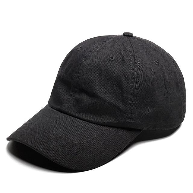 Muchique Snapback Caps Black Cotton Baseball Caps Plain Solid Color Dad  Hats Unisex 2fe379e327a