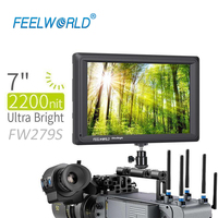 FEELWORLD FW279S 7 Inch 2200nit Daylight Viewable Camera Field Monitor 3G SDI 4K HDMI Input Output 1920X1200 IPS Panel