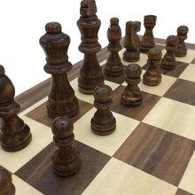 adcaf22ac66 Tamanho da Placa de xadrez Tabuleiro De Xadrez De Madeira Dobrável Com Jogo  Do Curso Magnético