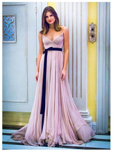 LORIE Pink Beach Wedding Dress Spaghetti Straps Chiffon Bride For Girls Floor Length Boho Gown Backless Style