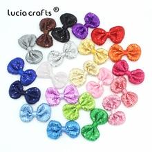 Разные цвета, разные цвета, бант, разноцветные блестки, бант, Розочка, сделай сам, бант для волос, для шитья, головной убор, материалы, аксессуары B0313