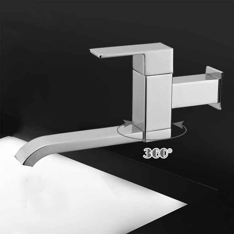 Free Shipping brass Sink Chrome Single Hole Faucet single cold in wall tap kitchen Faucet torneira bathroom banheiro SF560
