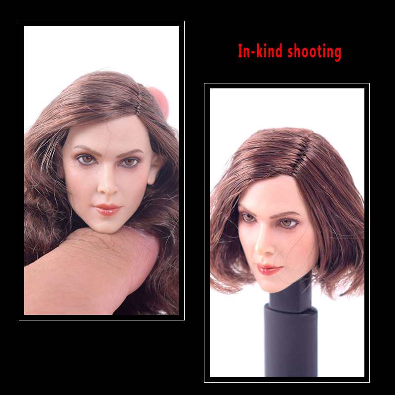 1/6 Scale Accessories Head Sculpt Carving European Female Gc004 A Long Curly Hair /b Short Fit 12 Inch Hottoys Phicen Figure Toys & Hobbies