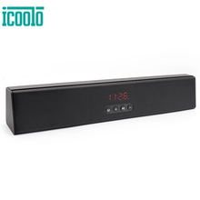 ICOOLO Wireless Bluetooth Speaker with Loud Stereo Sound Bass Built-in Mic Sound Bar 10W Driver 12 Hour Playtime for TV Computer