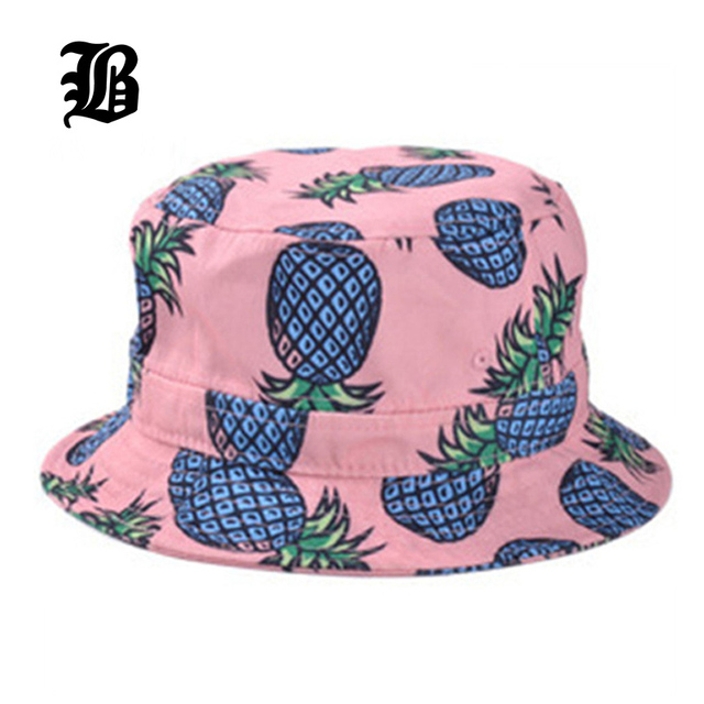 7405cb1b397 Pineapple Printed Bucket Hats For Women Girls Men 2018 New Fashion Lovely  Summer Casual Cotton Fitted Hats